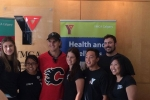 Mikael Backlund and Shawnessy Y Staff!