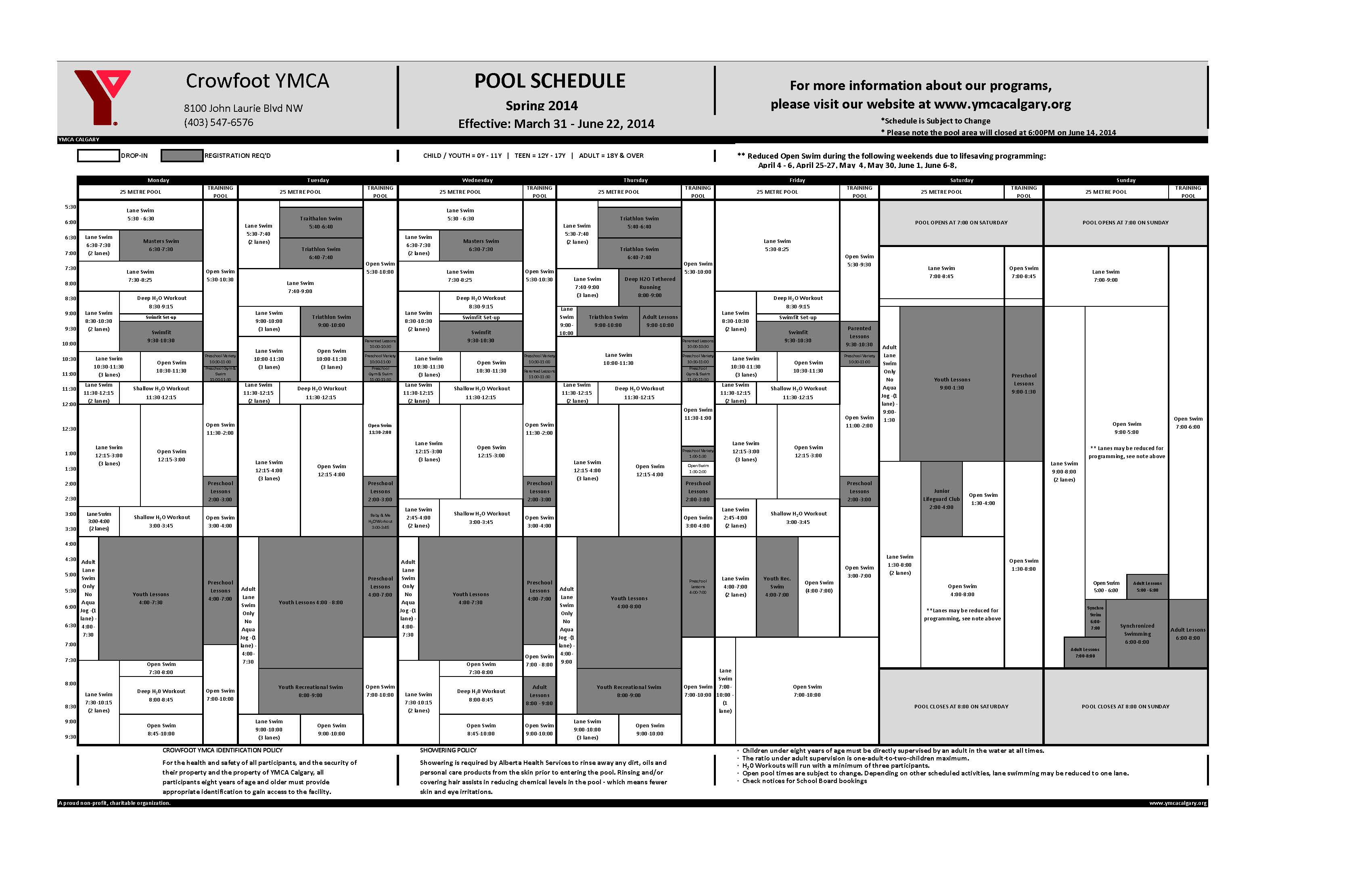Ymca open gym schedule - West vancouver swimming pool schedule ...
