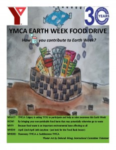 Earth Week Food drive poster