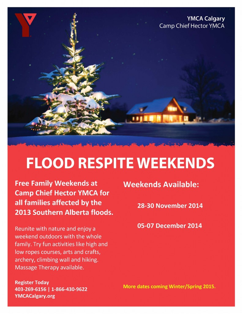 Flood Respite Weekends poster - Winter