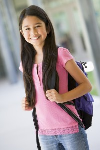Tween Girl with Backpack_12043816