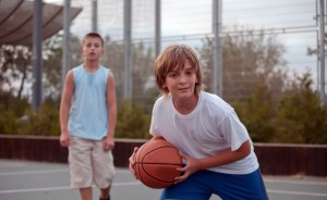 BBall blonde tween with friend_63586264