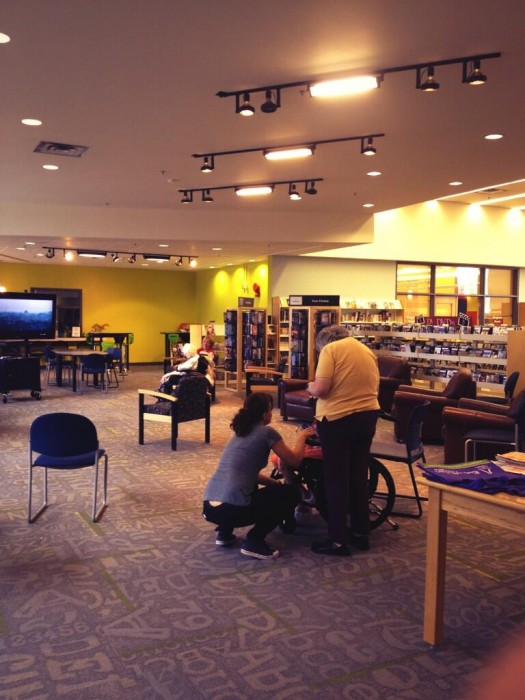 The Calgary Library at Shawnessy opened their doors for evacuees staying in the building.