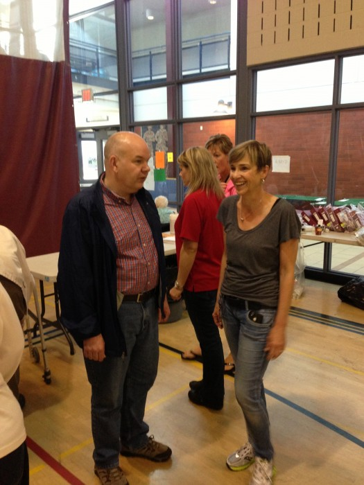 Health Minister Fred Horne visits Shawnessy YMCA gym